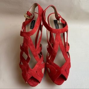 Zara Platform Sandals Size 9